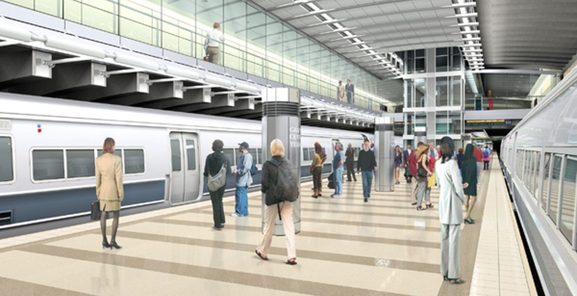 Artist's rendition of new Long Island Railroad terminal at Grand Central Station - part of the East Side Access project.
